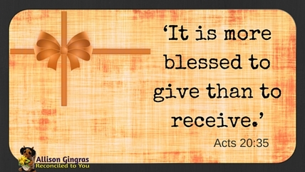 Money Mondays: Blessed to Give